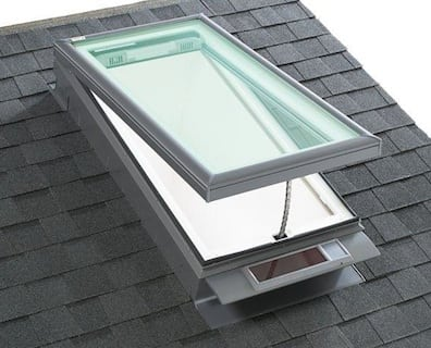 curb mounted velux skylight