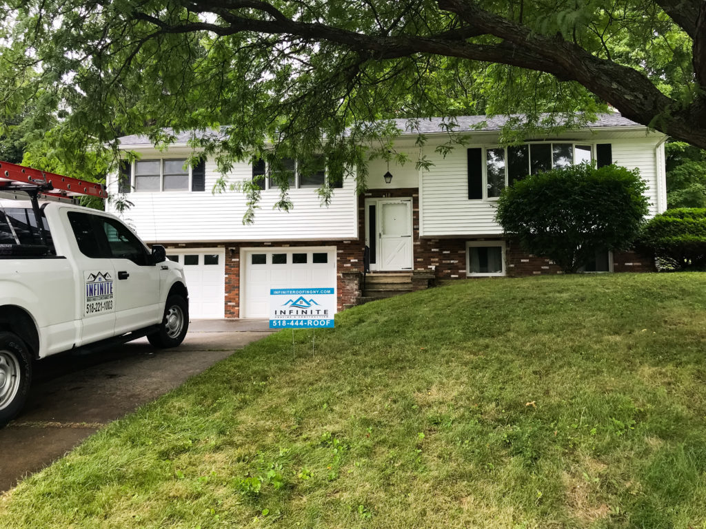 Lawn sign + truck, after