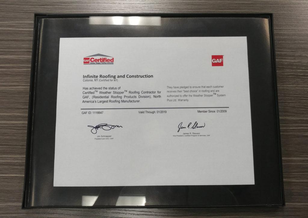 GAF Certification